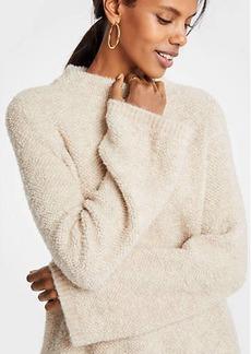 Ann Taylor Boucle Flare Sleeve Mock Neck Sweater