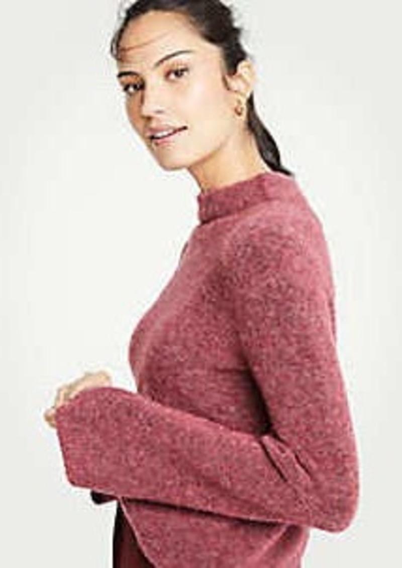 Ann Taylor Boucle Mock Neck Sweater
