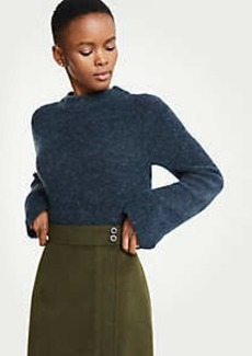Ann Taylor Boucle Mock Neck Sweater