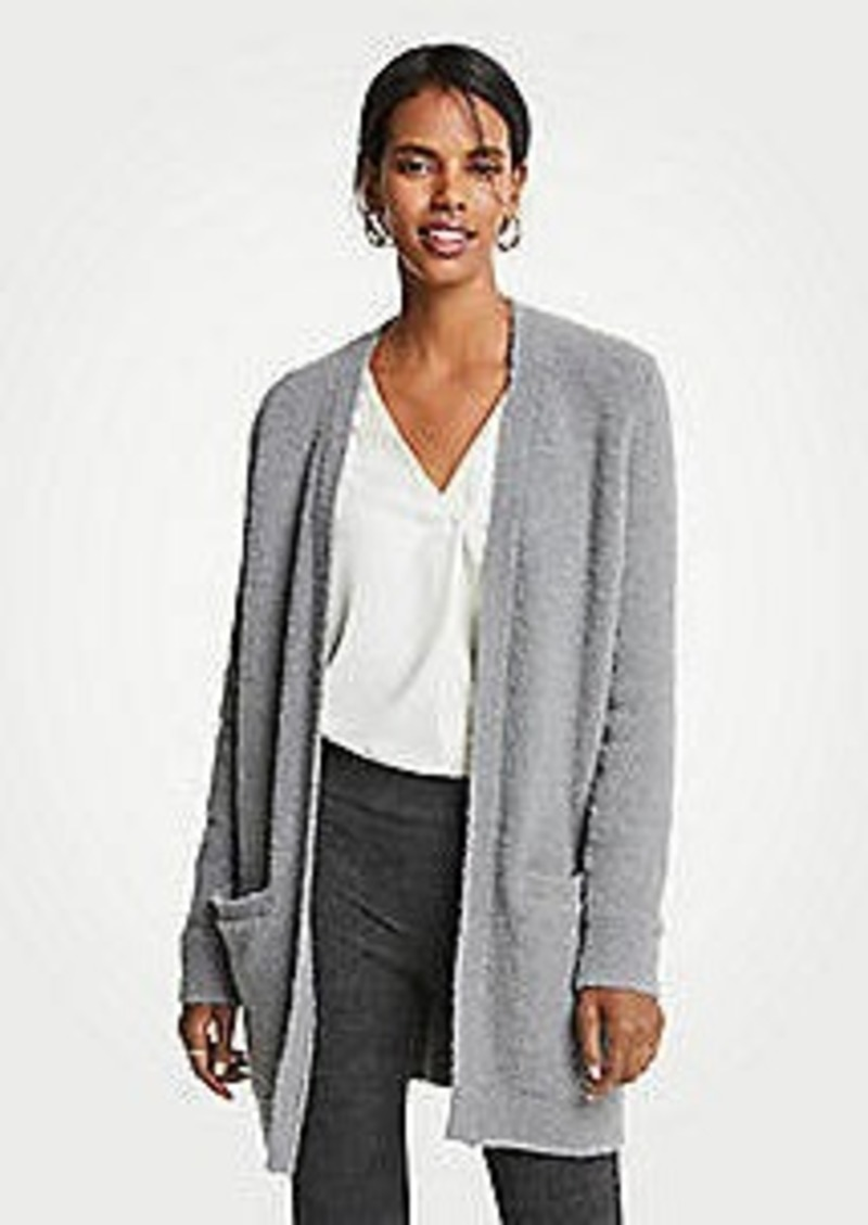 Ann Taylor Boucle Pocket Open Cardigan