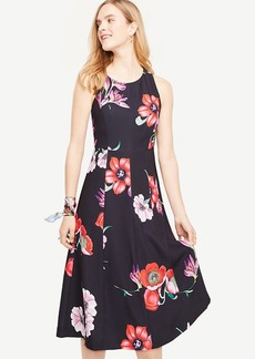 Ann Taylor Bow Back Floral Midi Dress