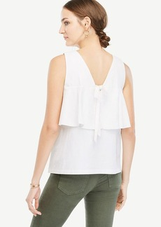 Bow Back Peplum Top
