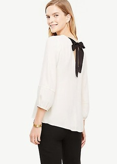 Bow Back Puff Sleeve Blouse
