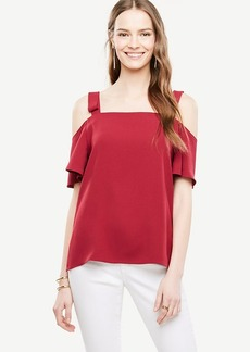 Bow Cold Shoulder Blouse