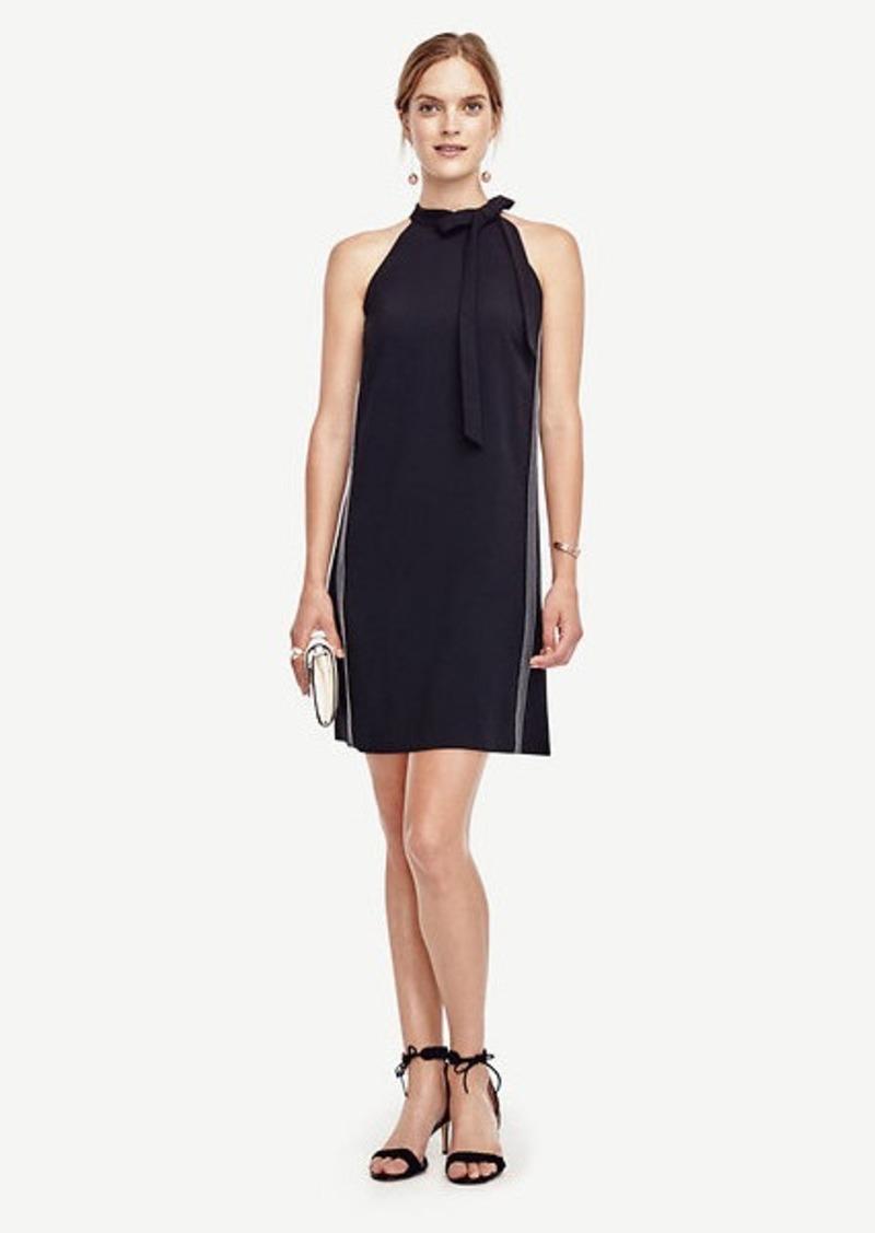 Ann Taylor Bow Halter Dress