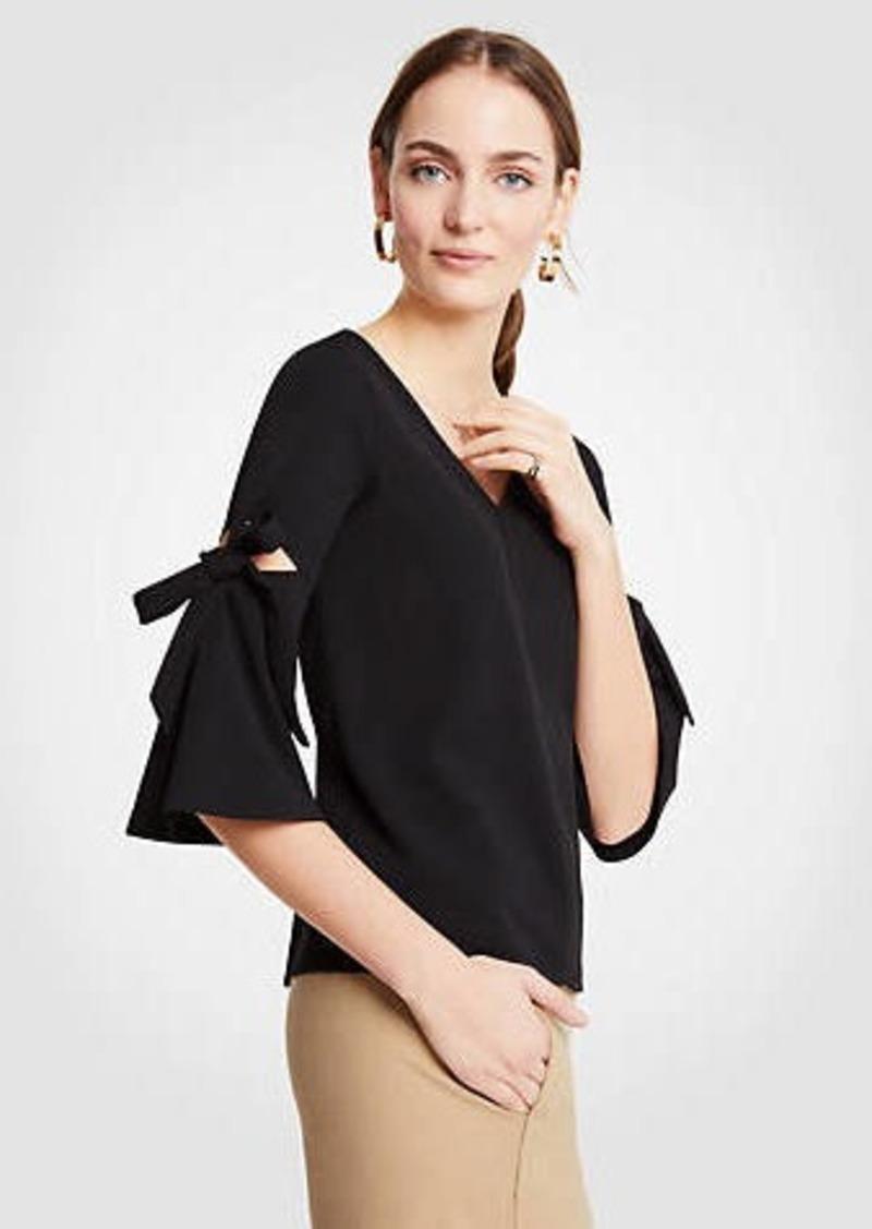 Ann Taylor Bow Sleeve Top