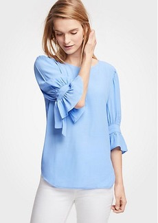 Ann Taylor Bow Sleeve Top