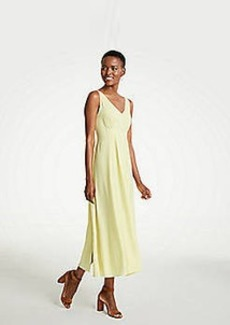 Ann Taylor Breezy V-Neck Midi Dress