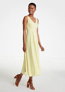 Ann Taylor Breezy V-Neck Midi Dress