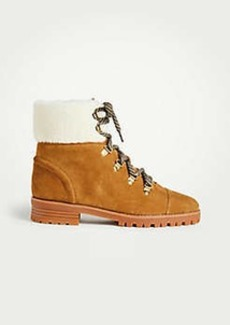 Ann Taylor Brock Suede Hiker Boots
