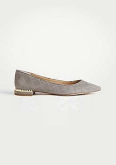 Ann Taylor Brooklyn Pearlized Quilted Flats