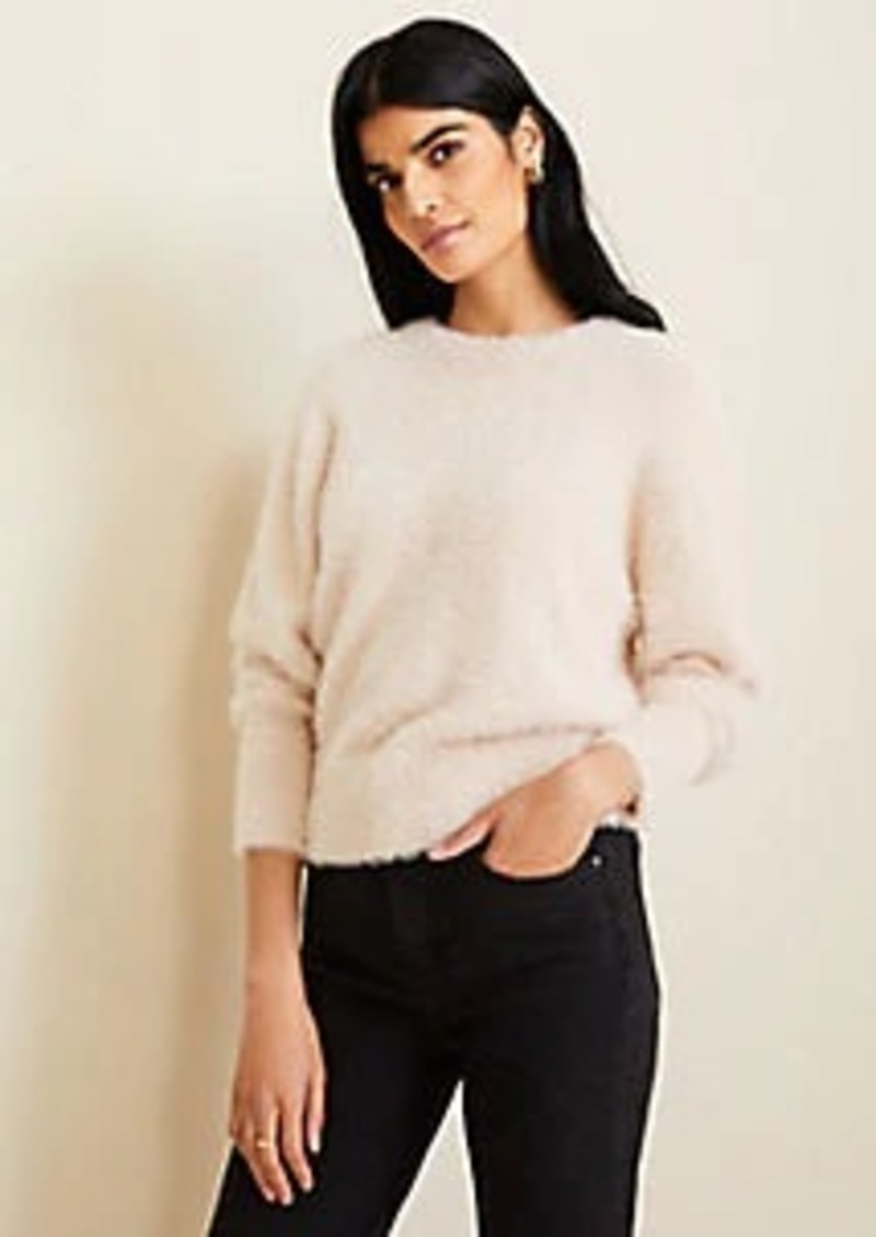 Ann Taylor Brushed Crew Neck Sweater