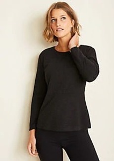 Ann Taylor Brushed Flannel Peplum Top