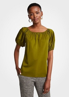 Ann Taylor Bubble Sleeve Top