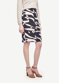 Ann Taylor Butterfly Jacquard Pencil Skirt