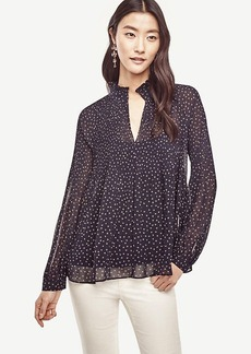 Butterfly Micro Pleat Blouse