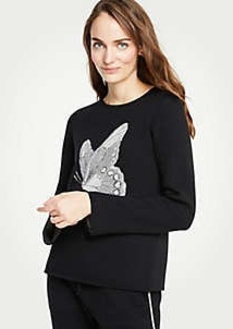 Ann Taylor Butterfly Sweater