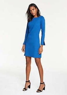Ann Taylor Button Cuff Ponte Shift Dress