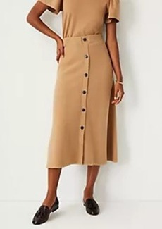Ann Taylor Button Front Sweater Skirt