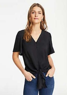 Ann Taylor Button Knot Front Top