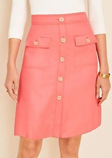 Ann Taylor Button Pocket Skirt