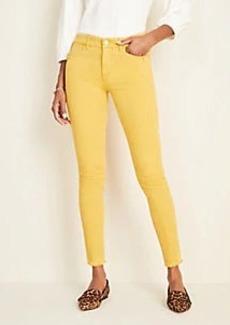 Ann Taylor Button Sculpting Pocket Frayed Skinny Jeans