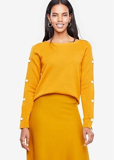 Ann Taylor Button Sleeve Sweater
