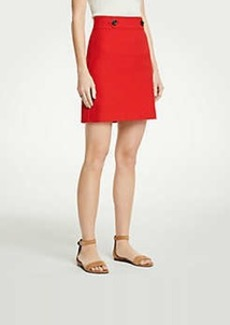 Ann Taylor Button Tab A-Line Skirt
