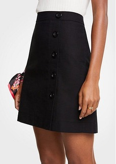 Ann Taylor Button Textured A-Line Skirt