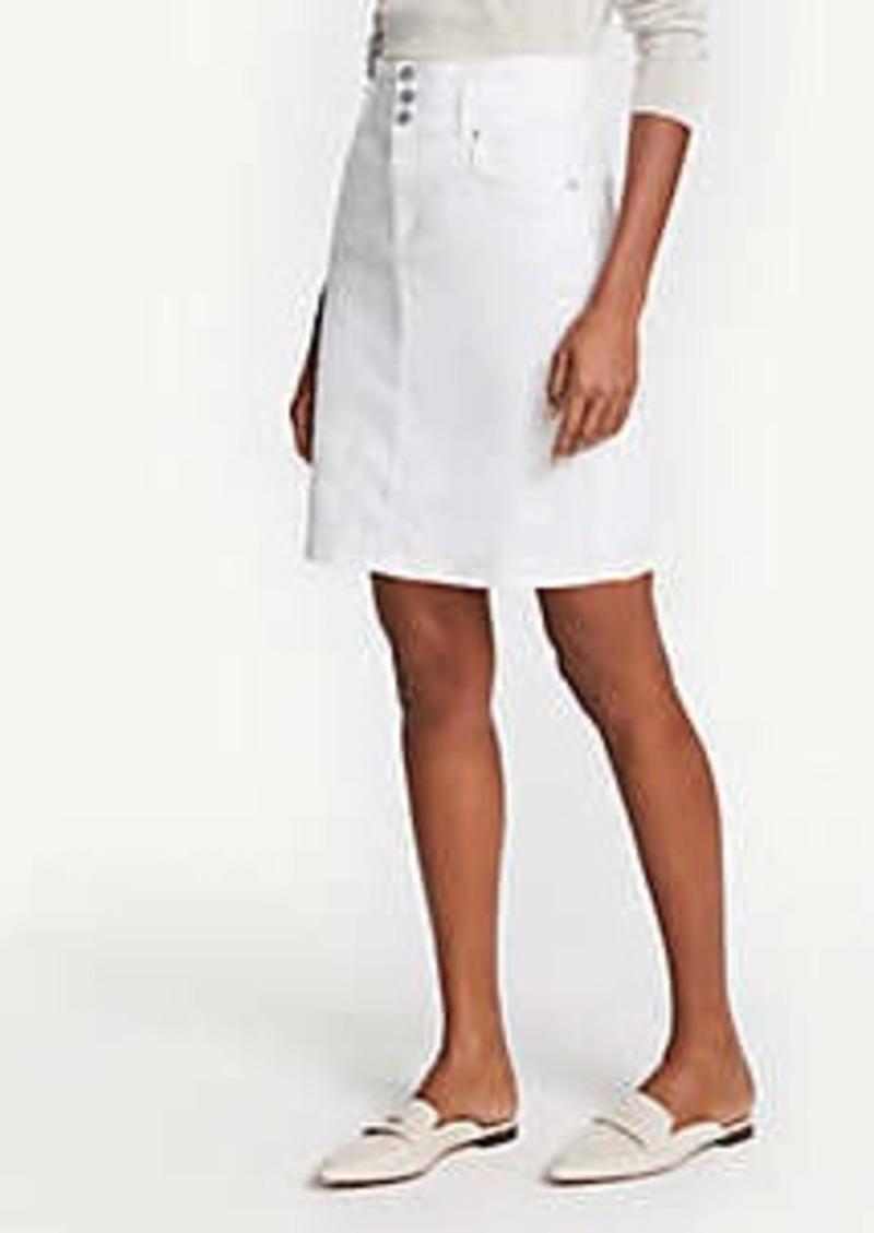 Ann Taylor Three Button Denim Skirt