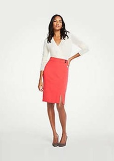Ann Taylor Button Waist Pencil Skirt