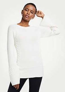 Ann Taylor Crew Neck Cable Knit Sweater