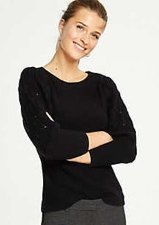Ann Taylor Cable Sleeve Sweater