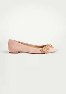 Ann Taylor Camila Sequin Bow Flats