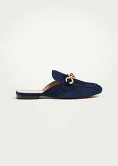 Ann Taylor Camilla Suede Chained Loafer Slides