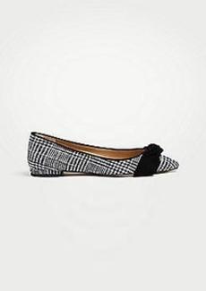 Ann Taylor Camryn Flannel Bow Flats