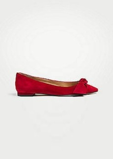 Ann Taylor Camryn Suede Bow Flats
