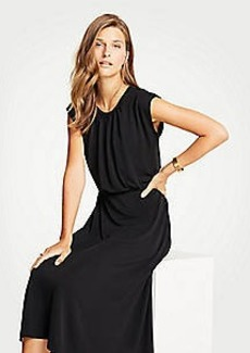 Ann Taylor Cap Sleeve Knit Midi Dress