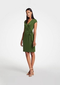 Ann Taylor Cap Sleeve Wrap Dress