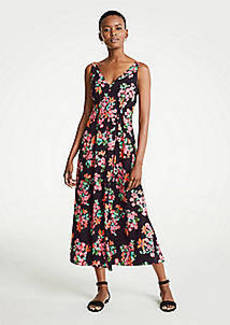 Ann Taylor Capri Garden V-Neck Maxi Dress