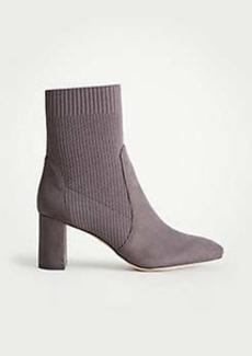 Ann Taylor Carla Sock Block Heel Booties