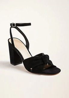 Ann Taylor Carolyn Knot Suede Block Heel Sandals