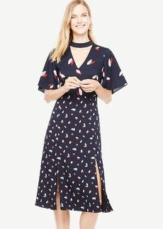 Cascading Petal Choker Dress