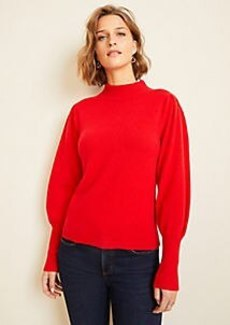 Ann Taylor Cashmere Balloon Sleeve Sweater
