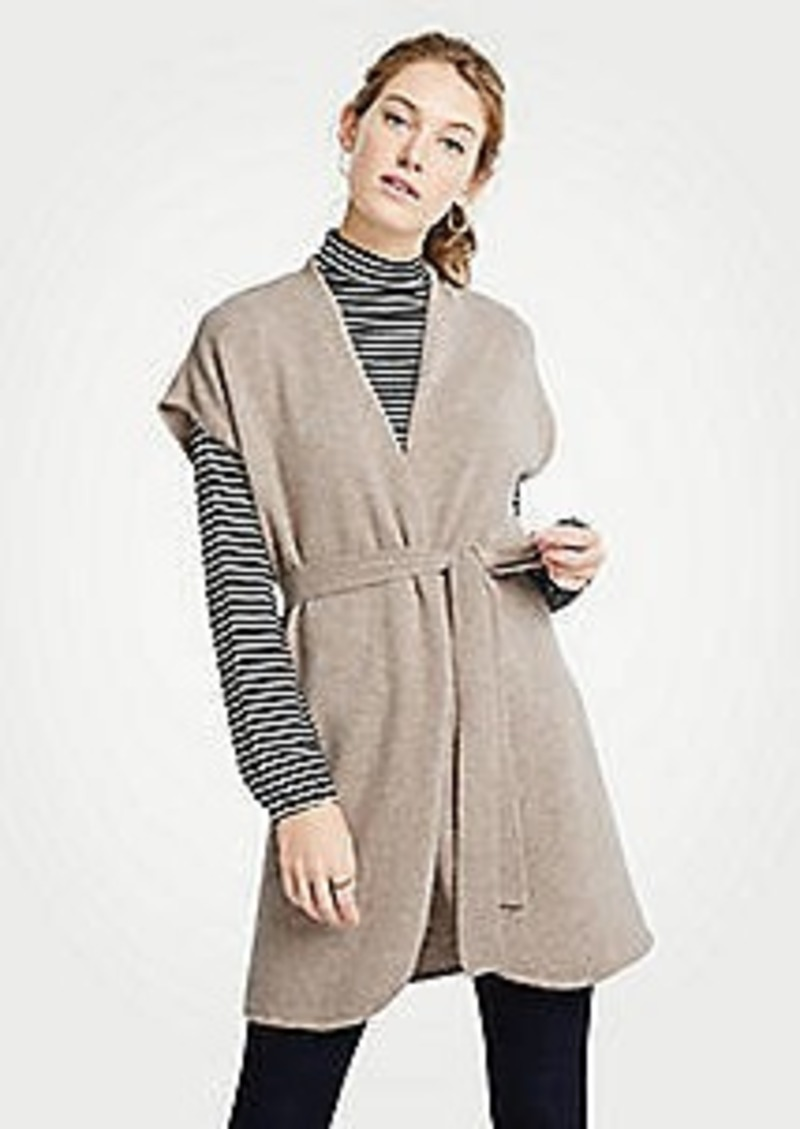 Ann Taylor Cashmere Belted Cardigan