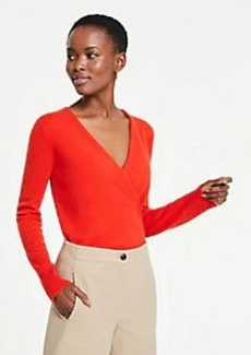 Ann Taylor Cashmere Crossover Sweater