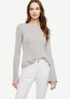 Ann Taylor Cashmere Fluted Sleeve Sweater