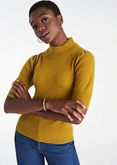 Ann Taylor Cashmere Puff Sleeve Sweater