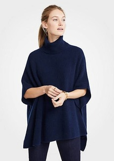 Ann Taylor Cashmere Ribbed Poncho