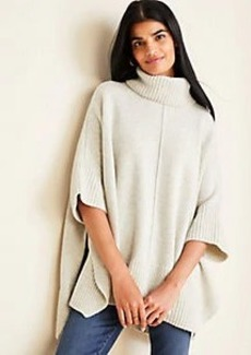 Ann Taylor Cashmere Turtleneck Poncho Sweater